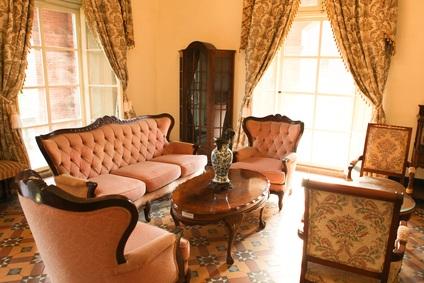 18th century furniture in a Pennsylvania museum
