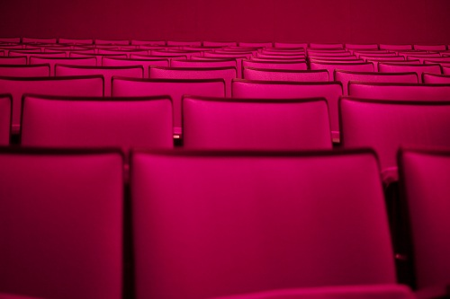 pa theaters inside pink seats