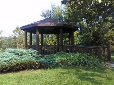 gazebo in the Pennsylvania mountains