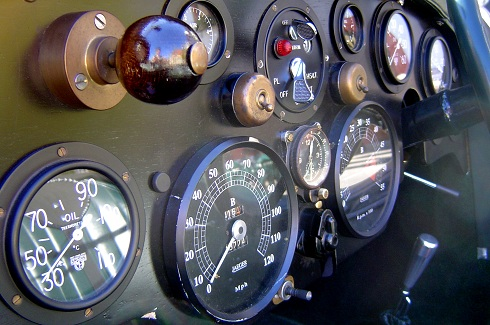 Boyertown PA historic car museum odometers and gauges