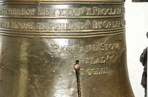 closeup of the liberty bell in Philadelphia