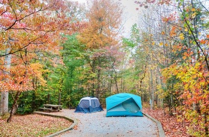 tents in fall