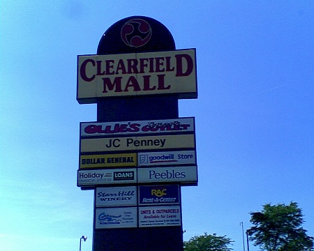 Clearfield Mall PA sign