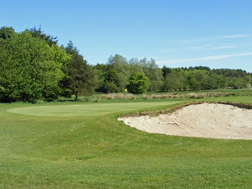 sand trap on course