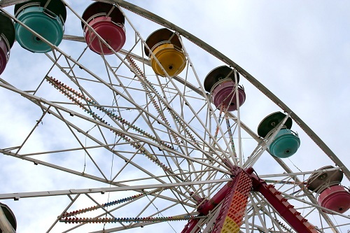 ferris wheel at the local festival