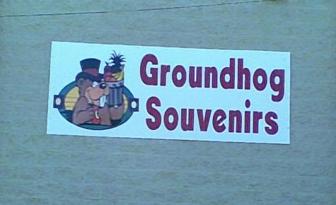 Punxsutawney Phil groundhog souvenirs sign