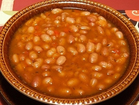 fair bean soup in a bowl