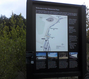 flight93 memorial sign