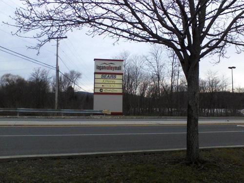 Logan Valley Mall sign in Altoona Pennsylvania Blair County