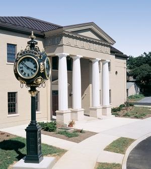 National Watch and Clock Museumuilding in Columbia PA, Lancaster County PA with clock outside