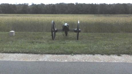 black cannon on green grass in Gettysburg National Military Park in PA