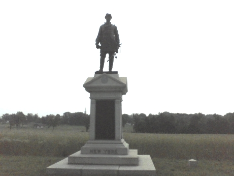 statue on a monument with New York on it in Gettysburg National Military Park in Gettysburg PA, Adams County PA