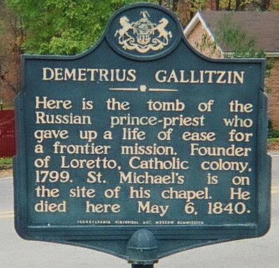 Demetrius Gallitzin sign