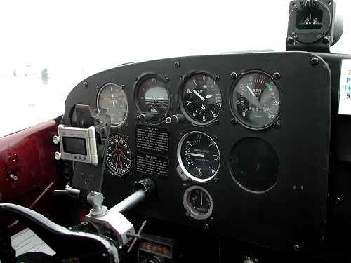 Golden Age Air Museum cockpit controls in PA