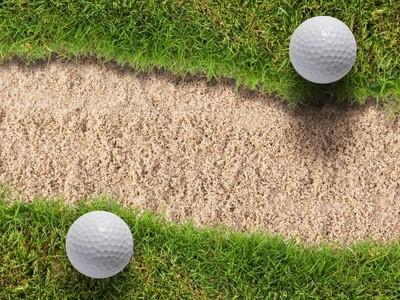 2 golf balls