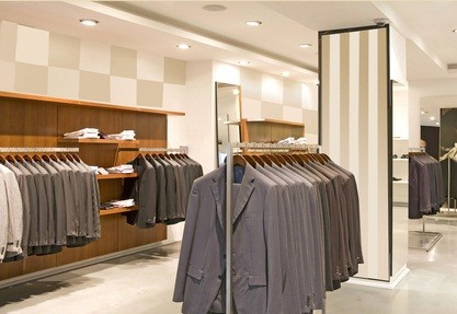 PA store in the outlets with men's suit jackets