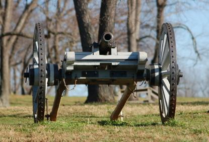Philadelphia museums black cannon in Brandywine Battlefield Historic Site