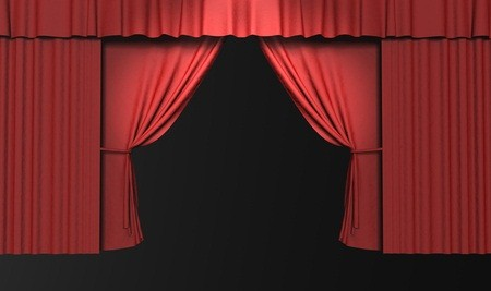 pink theater curtain