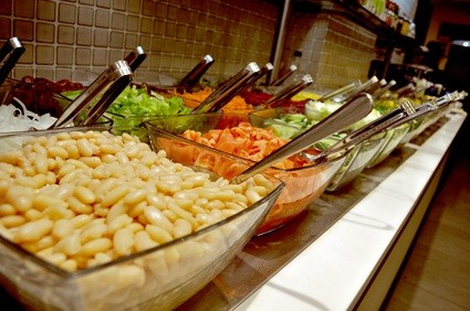 Pennsylvania restaurant salad bar with vegetables