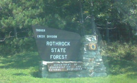 Rothrock State Forest sign