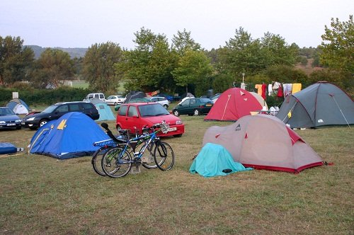 tents at an outdoor camping ground