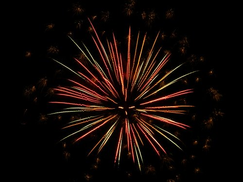firework display at the festival