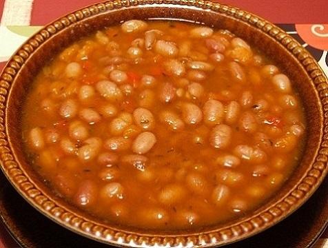 fair bean soup in a bowl