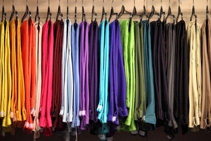 womens colored pants in a Pennslvania outlet store