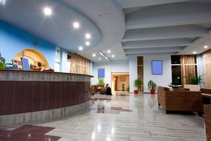 Poconos resort indoor lobby