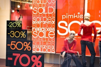 sale sign in a store in a Pennsylvania shopping mall Lehigh Valley