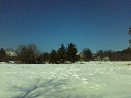 pristine white snow in the mountains of Pennsylvania