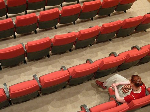 red seats in a Pittsburgh Pennsylvania theater