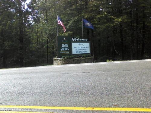 Seven Springs Resort in PA ski information sign